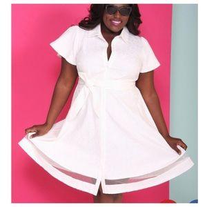 Christian Siriano / Lane Bryant Belted Shirt Dress